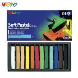 MUNGYO Boite de 12 pastels secs tendres