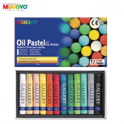 MUNGYO Boite de 12 pastels à l'huile
