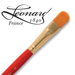 Pinceau Léonard fibre Similhair® orange Usé bombé