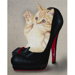 Chat d'escarpin 24x30