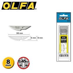 5 Lames de rechange OLFA KB4-R/5