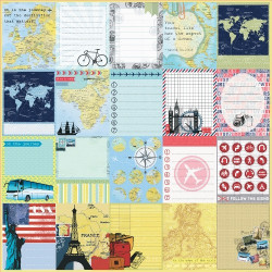 Papier scrapbooking Around the world - The distant countries de Scrapberry's en 30.5x30.5