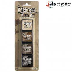 Set de 4 mini encreurs Distress Ink 'Ranger' N°3