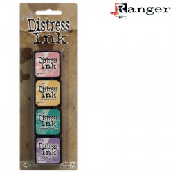 Set de 4 mini encreurs Distress Ink 'Ranger' N°4