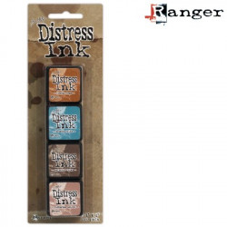 Set de 4 mini encreurs Distress Ink 'Ranger' N°6