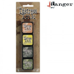 Set de 4 mini encreurs Distress Ink 'Ranger' N°10