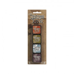 Set de 4 mini encreurs Distress Ink 'Ranger' N°8