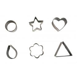 Set de 6 emporte-pièces métaliques