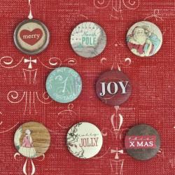 "Set de 8 badges autocollants ""Holiday Jubilee"" de Prima Marteking"