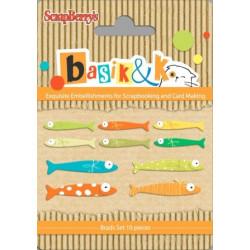 Set d'attaches parisienne Basik & Ko - Fishing 2 de Scrapberry's