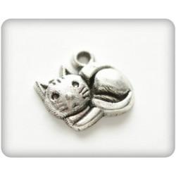 """Sachet de 10 Breloques """"petit chat"""" en argent de chez Scrapberry's"""