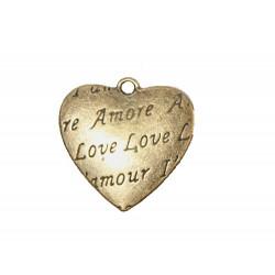 "Sachet de 10 Breloques ""Coeur"" en métal de chez Scrapberry's"