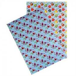 """Set de 2 feuilles autocollantes """"Washi paper """"oiseaux et hiboux"""" (A4) -"""