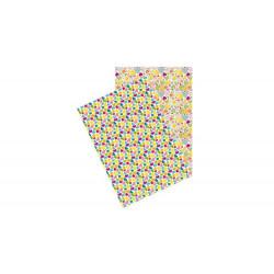 """Set de 2 feuilles autocollantes """"Washi paper """"coeurs"""" (A4)"""
