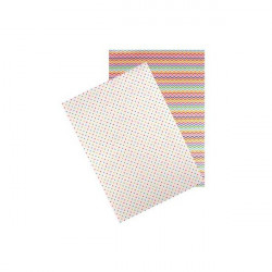 """Set de 2 feuilles autocollantes """"Washi paper """"Pois et Chevrons"""" (A4)"""
