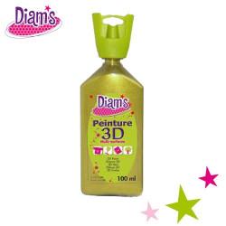 Diam's 3D - Peinture 3D Diam's pistache 100 ml