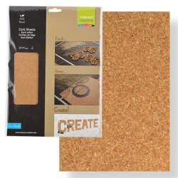 Paquet de 3 feuilles de liége naturel A4 de Vaessen Creative