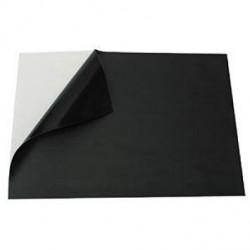 Set de 2 feuilles ardoise noires adhésives A4