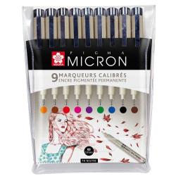 PIGMA MICRON Set de 9 couleurs PIGMA MICRON taille 05