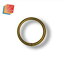 Lot d'anneaux soudés Diam. Int. 14 mm en acier laitonné