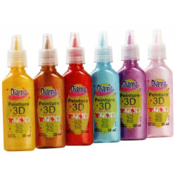 Kit peinture 3D Diam's - Total FASHION 20 ml x 6