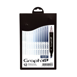 Set de 12 marqueurs Graph'It Cool Greys colors
