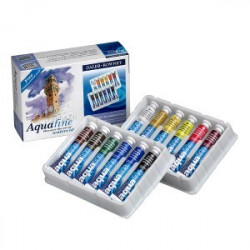 Coffret initiation à l'aquarelle Aquafine DALER ROWNEY (12 tubes de 8 ml)