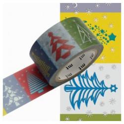 Masking Tape MT Motif Sapins design / Christmas paper tree (25mm x 7m)