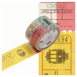 Masking Tape MT Prédécoupé Motif tickets (20m x 3m)