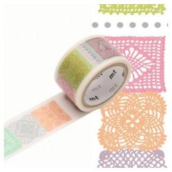 Masking Tape MT Prédécoupé Motif crochet (20mm x 3m)
