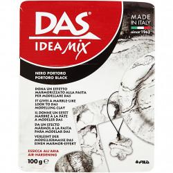 Pâte minérale à modeler séchant à l'air 'Das Idea Mix' Noir Portor 100g