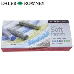 Pastels tendres Extra-Fins Artists' Set de 8 Teintes Froides DALER ROWNEY