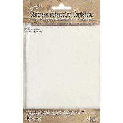 Pochettes de 20 Distress Watercolor Cardstock de Rangers