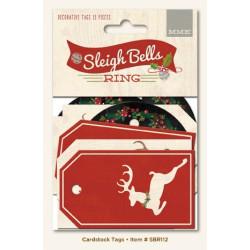 "Set de 15 tags ""Sleigh Bells Ring Decorative Tags"" de My Mind's Eye"