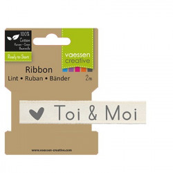 "Ruban ""Toi & moi"" de Vaessen Creative (2m)"