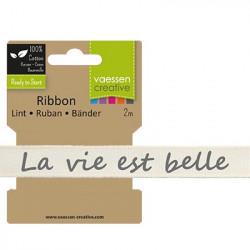 "Ruban ""La vie est belle"" de Vaessen Creative (2m)"