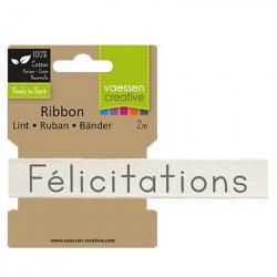 "Ruban ""Félicatations"" de Vaessen Creative (2m)"