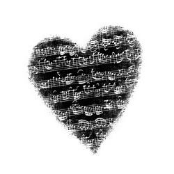 Tampon bois Coeur musique - 7,5x6,5 cm de Artemio