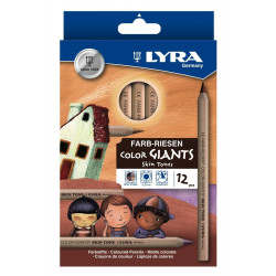Etui de 12 crayons de couleur Lyra Skin Tones Giants couleurs de peaux