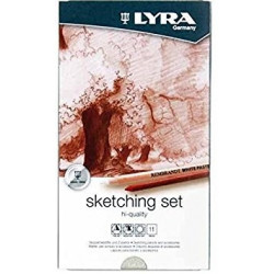 Boîte métal LYRA Sketching set (Set de 6 crayons pour esquisse / croquis + 5 accessoires)