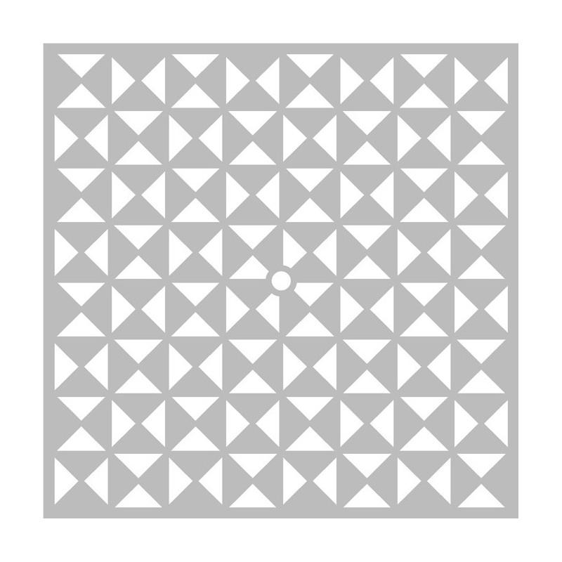 pochoir horloge graph triangles d 39 artemio 32x32 cm aylia