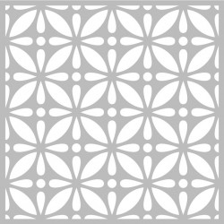 """Pochoir Horloge """"graph fleurs"""" d'Artemio 32x32 cm"""