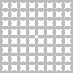 """Pochoir Horloge """"graph carrés courbes"""" d'Artemio 32x32 cm"""