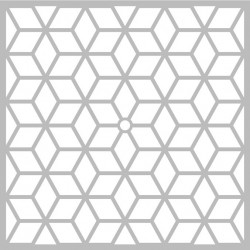 "Pochoir Horloge ""Scandisweet cubes"" d'Artemio 32x32 cm"