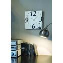 Horloge blanche à décorer carrée en MDF 20 cm d'Artemio