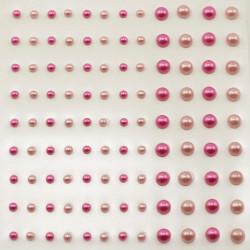 Planches de 108 demi perles adhésives de Vaessen Creative
