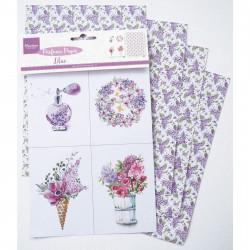 """Set de papier """"perfumed paper lilac"""" de Marianne Design"""