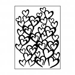 Plaque d'embossage envolée de coeurs de Carabelle