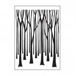 Plaque d'embossage tree trunks de Darice