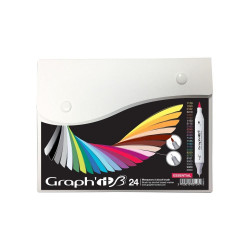 Set de 24 marqueurs GRAPH'IT Brush & Extra fine Essential